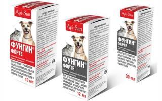 Фунгин: инструкция по применению спрея для кошек, противопоказания