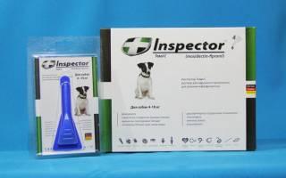 Капли Инспектор для кошек и собак: инструкция по применению, побочные действия лекарства