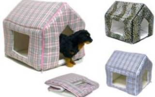 Домик для собаки своими руками: материалы, схема и выкройки