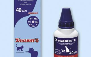 Хелавит С для кошек и собак: инструкция по применению, описание и фармокологические свойства